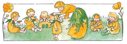 Illustration from Elsa Beskow, The Flowers' Festival