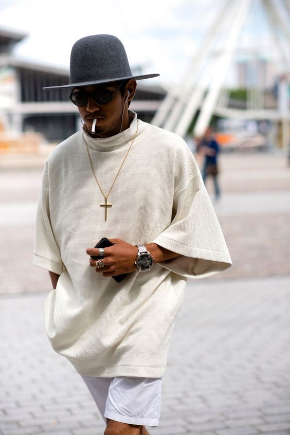 Paris Men's Fashion Week the strongest street style - Men's style, accessories, mens fashion trends 2020 Stylish Mens Fashion, Mens Fashion Week, Fashion Mode, Fashion Outfits, Rock Outfits, Hipster Outfits, Latest Men Fashion, Mens Fashion Hats, Urban Street Style Fashion