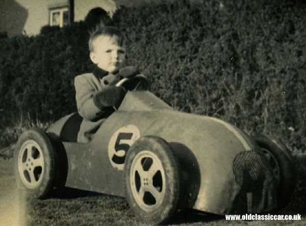 a great vintage pedal racing car in use a one off or a proper