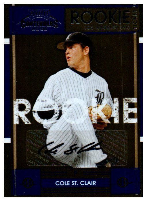 2008 Playoff Contenders Cole St Clair Rookie Ticket Autograph Card Dodgers #LosAngelesDodgers