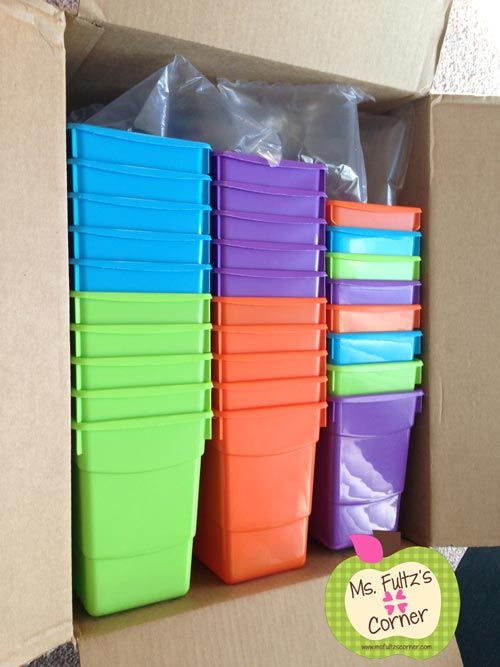 Ms. Fultz's Corner: To Buy or Not To Buy: Plastic Book Bins (plus DIY labels) The bargain hunter in me LOVES these book bins and they are the perfect size for student book boxes