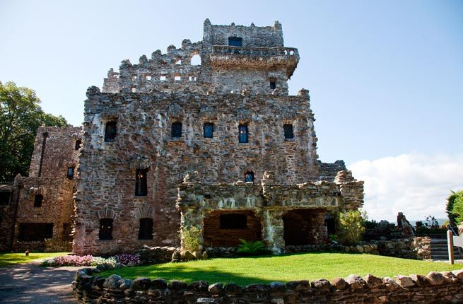 Gillette Castle, East Haddam, Connecticut - Built between 1914 and 1919, this beautiful castle was created by actor William Gillette, known for starring in the stage adaptation of Sherlock Holmes. Located along the Connecticut River, Gillette Castle is now part of the Gillette Castle State Park, which includes trails and a now-closed three-mile railroad.