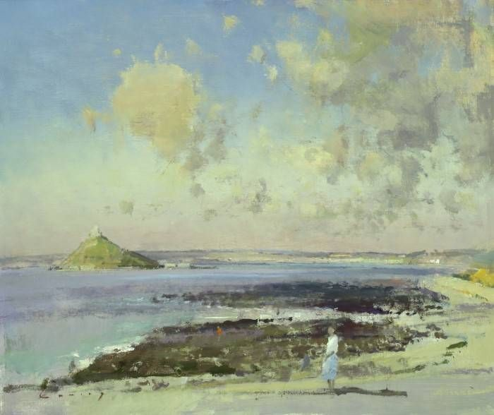 Fred Cuming RA: Sunny Morning St.Michaels Mount