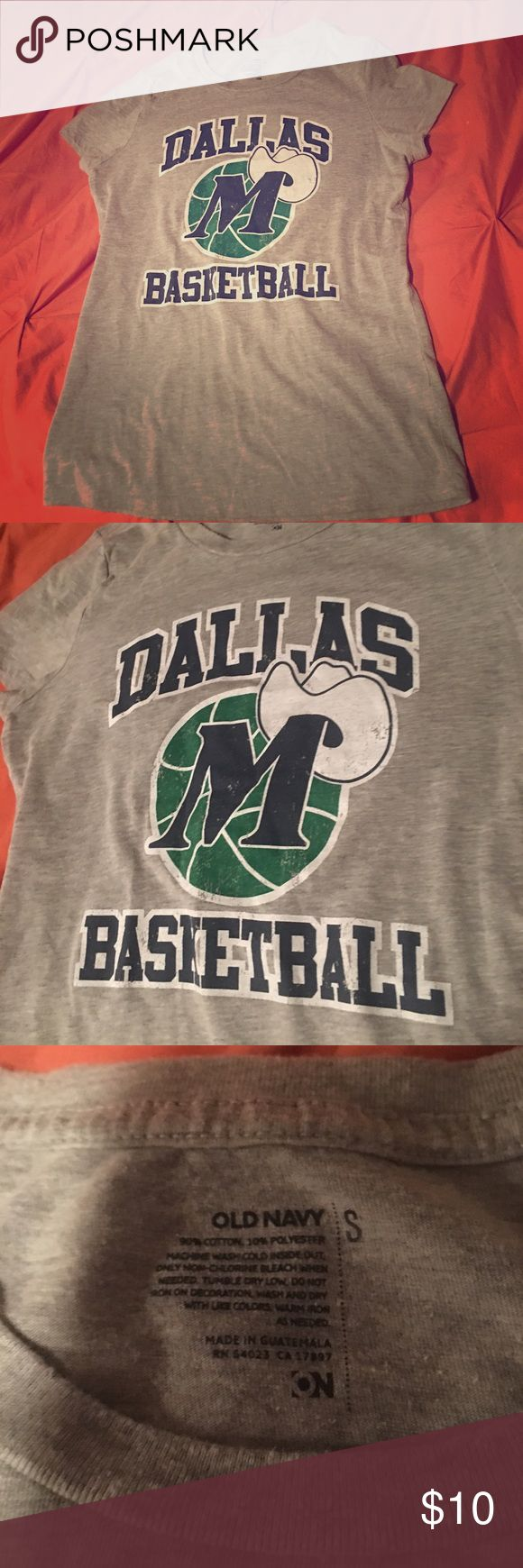 Dallas Mavericks fitted shirt 🏀 Support the Dallas Mavs with this super cute fitted tee.  Almost perfect condition.  Ready to sell!!  Make an offer or bundle to save! Old Navy Tops Tees - Short Sleeve