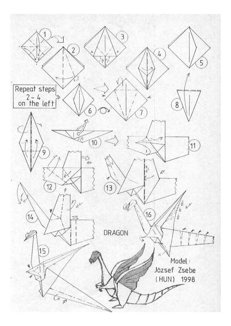 origami royal dragon diagrams by pepius on deviantart