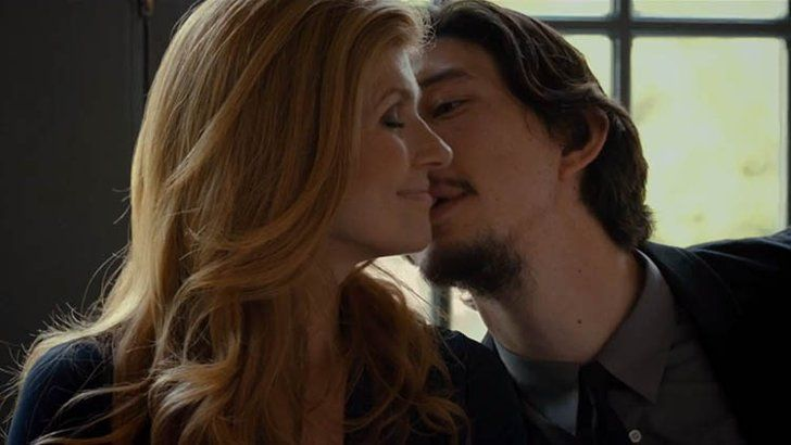 Pin for Later: The Best Movie Kisses of All Time This Is Where I Leave You Adam Driver snuggles up to onscreen girlfriend Connie Britton.