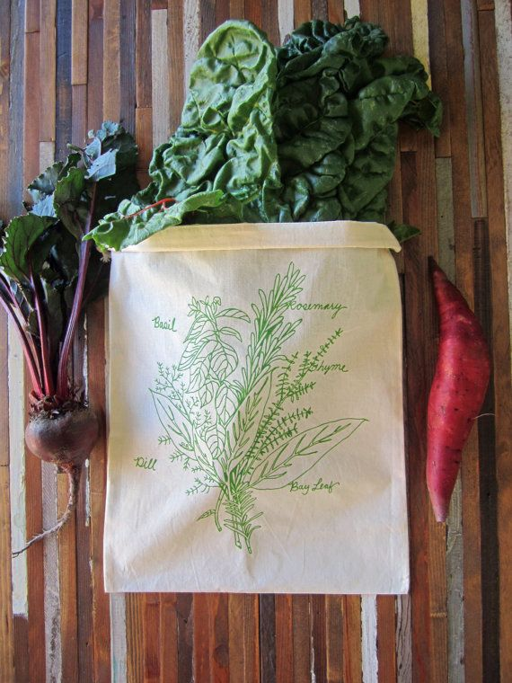 Herb Bunch Reusable Produce Bag - tiny yellow bungalow