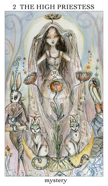 joie de vivre tarot - by the same artist as the paulina. very whimsical and a little eerie around the edges.