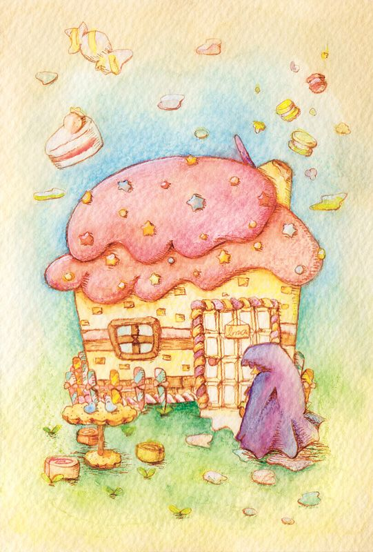 「ヘンゼルとグレーテル」  「Hansel and Gretel」  Illustration : Shoko.h