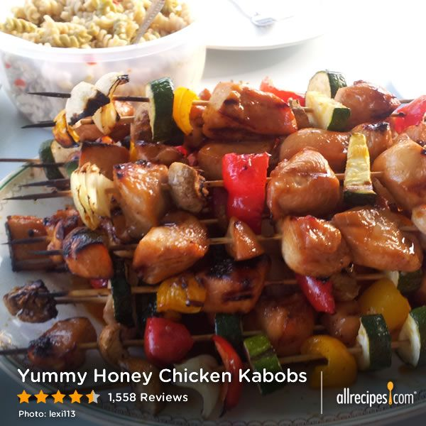 "Yummy Honey Chicken Kabobs | ""This is the best-tasting chicken kabobs ..."