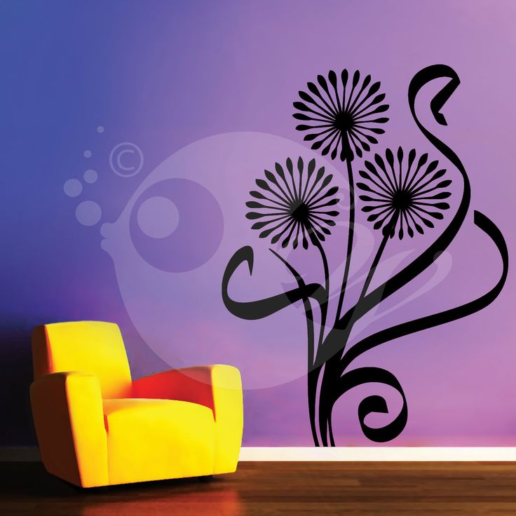 With this Star Flowers Wall Sticker Decal you can decorate your walls in one of the most modern and elegant ways