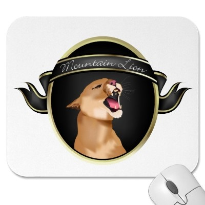 Are you waiting for new Mac OSX Mountain Lion? Meanwhile, your new mousepad is already here! http://www.zazzle.com/mountain_lion_mousepad-144769498775987640