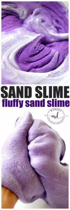 Best DIY Slime Recipes -Fluffy Sand Slime - Cool and Easy Slime Recipe and Tutorials - Ideas Without Glue, Without Borax, For Kids, With Liquid Starch, Cornstarch and Laundry Detergent - How to Make Slime at Home - Fun Crafts and DIY Projects for Teens, Kids, Teenagers and Teens - Galaxy and Glitter Slime, Edible Slime, Rainbow Colored Slime, Shaving Cream recipes and more fun crafts and slimes http://diyprojectsforteens.com/diy-slime-recipe-ideas