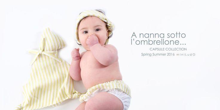 miniLudO SS16 Capsule Collection. #miniLudO #SS16 #BabyGirl #FashionKids #babycomforter #Spring #Summer #Primavera #Estate #PE16 #evergreen #green #Toddler #Style #babies #Mare #Spiaggia