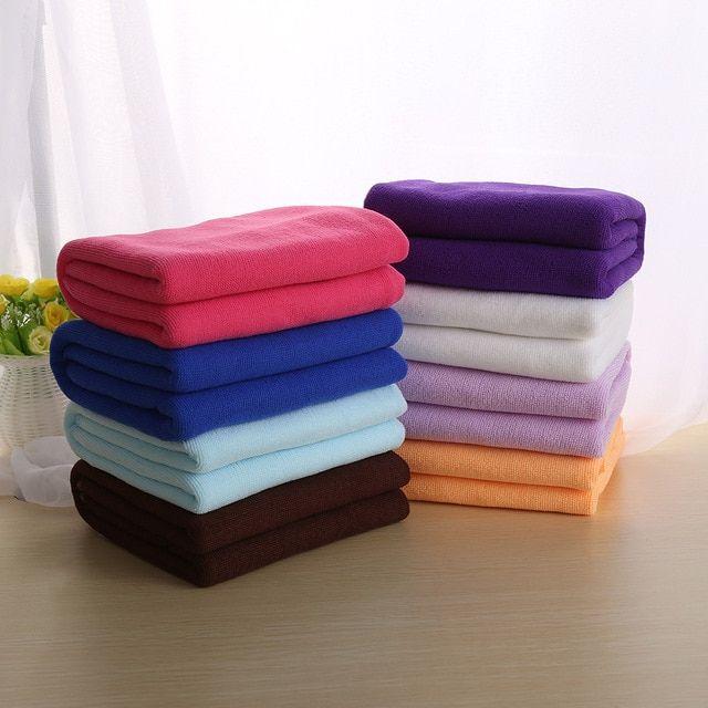 Absorbent Microfiber Fiber Towel Beach Drying Bath Washcloth Shower Towels