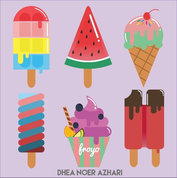 Ice cream   #art #vector #icecream