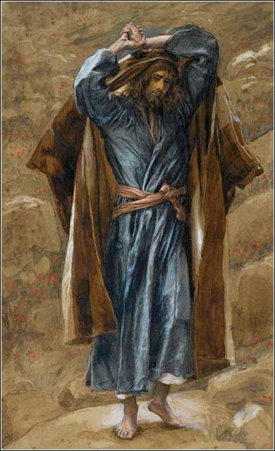 Philip the Apostle by James Tissot, ca. 1889. - Matthew 10:2 2 The names of the 12 apostles are these: First, Simon, the one called Peter, and Andrew his brother; James the son of Zeb′e·dee and John his brother; 3 Philip and Bar·thol′o·mew; Thomas and Matthew the tax collector; James the son of Al·phae′us; Thad·dae′us; 4 Simon the Ca·na·nae′an; and Judas Is·car′i·ot, who later betrayed him.