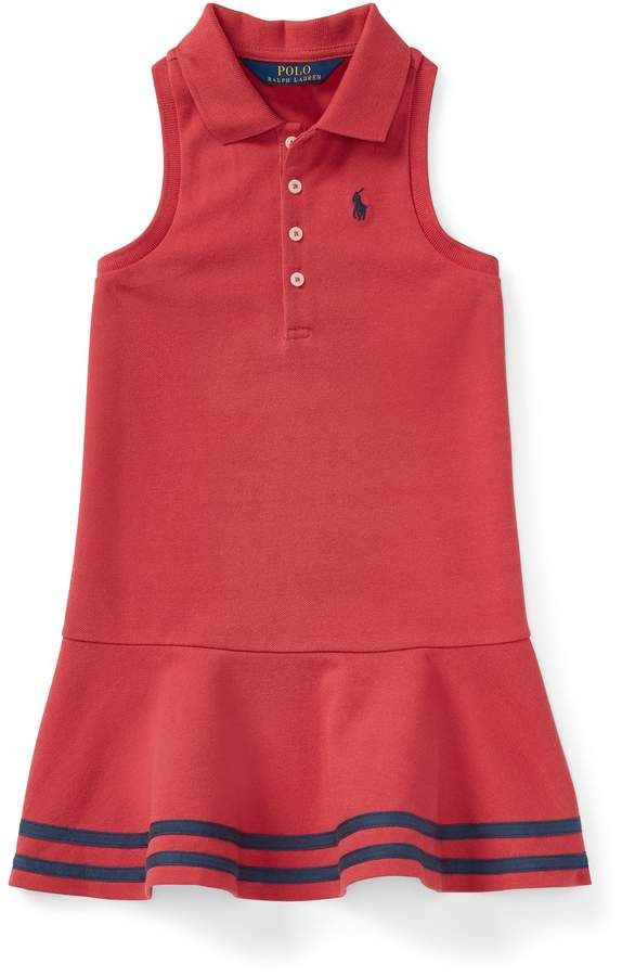 126ad14d91 Striped Mesh Polo Dress #Signature#embroidered#length | Fashion ...
