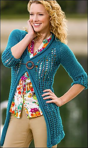Quickie Cardigan by Amy Gunderson