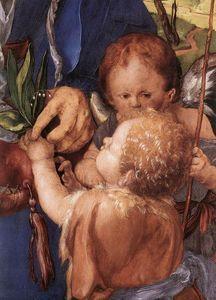 Albrecht Durer - Madonna with the Siskin (detail)