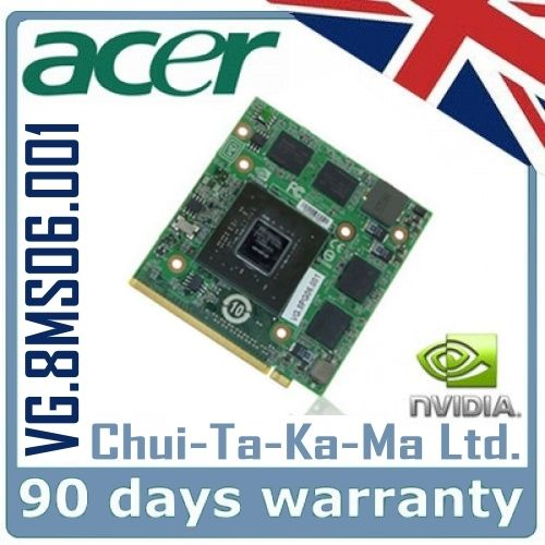 nVidia VG.8MS06.001 Acer Aspire 5520G 4520G Laptop Graphics Card Repair Service - £34.95