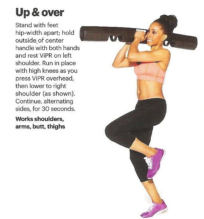 UP AND OVER WITH ViPR | Arm Exercises | Pinterest ...