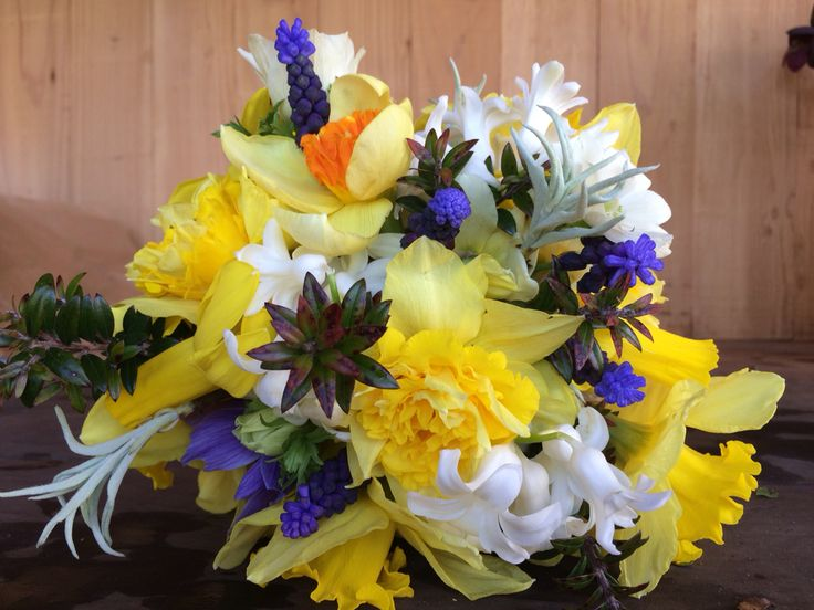 spring showers bouquet daffodils-#14