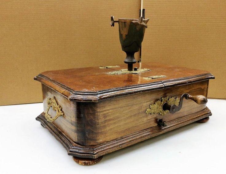 Kalliope 1890's Antique Christmas Tree Stand and Music Box German Automaton
