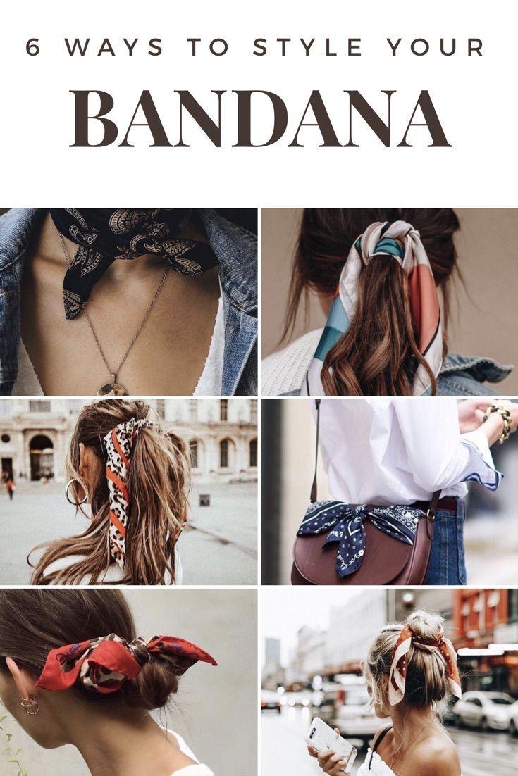 6 Ways To Style Bandana #bandana #hairstyle2018 – …
