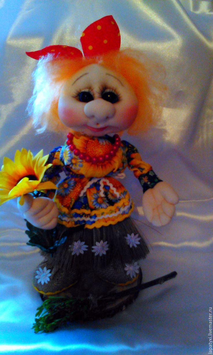 Купить Весёлая метелка - Алёнка )))))( Веник - домовушка ) - рыжий, кукла, кукла в подарок