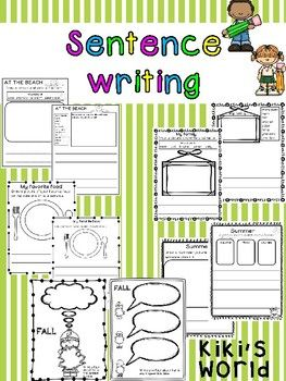 This product consists of 10 differentiated writing activites to practise student's sentence writing.-At the beach-My favorite pet-My family-My favorite food-How can I be a good friend?-Valentines day letter-Summer-Easter-Fall-My weekend