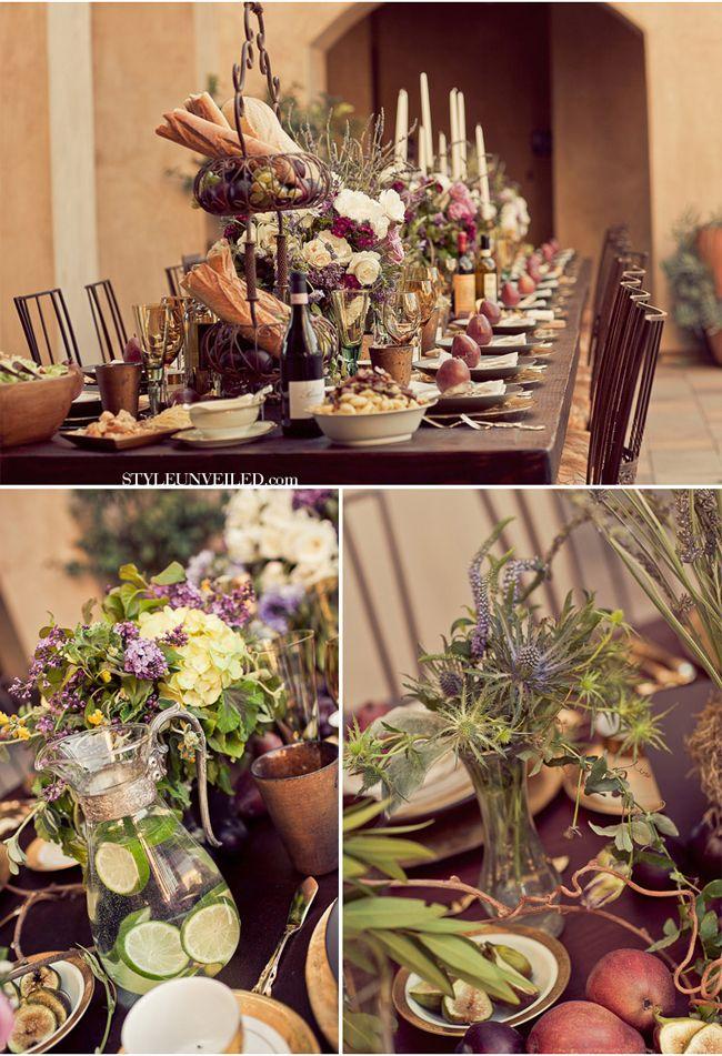 Tuscany Style Wedding at SerraPlaza - casual yet lush, rustic elegance.