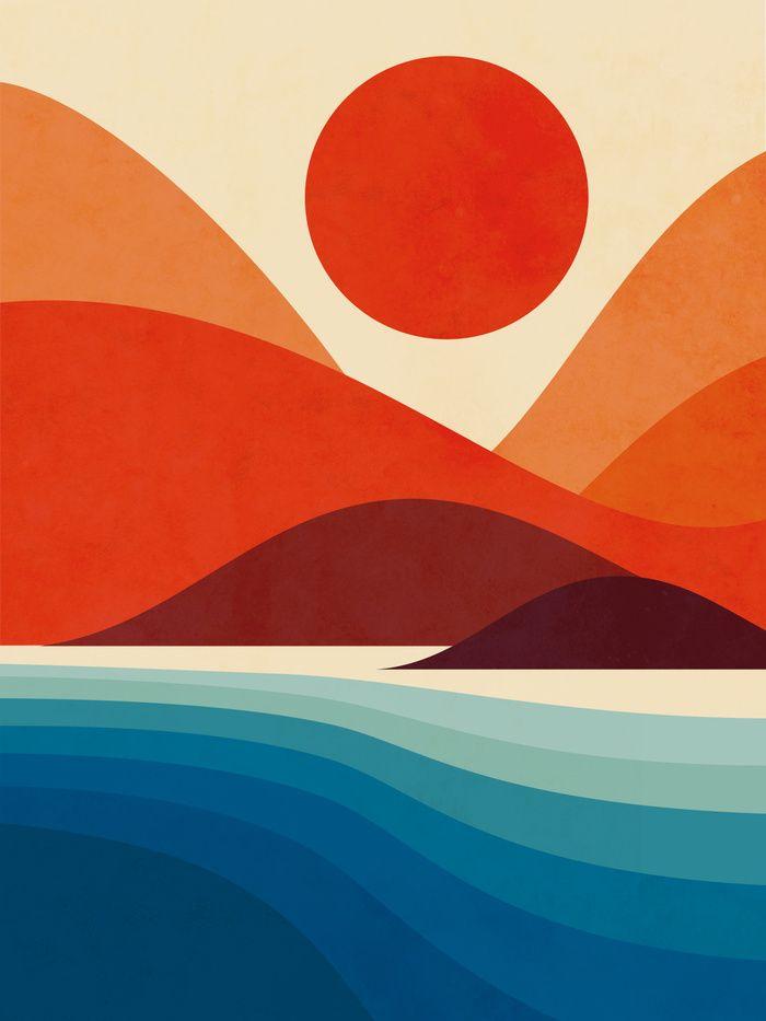 Seaside Art Print by Jay Fleck. Worldwide shipping available at Society6.com. Ju… – Melanie Münstermann
