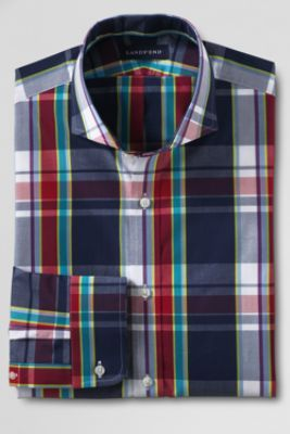 Men's Regular Tailored Fit Cutaway Collar Poplin Dress Shirt from Lands' EndFashion Ideas, Plaid Dresses, Men Style, Cutaway Collars, Dresses Shirts, Land End, Men Fashion, Fashion A W, Collars Shirts