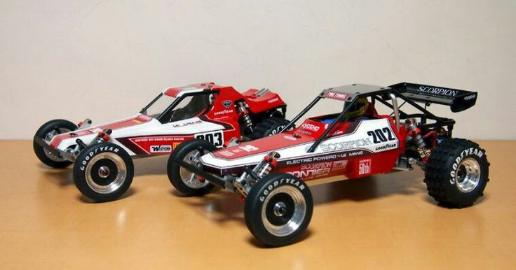 Kyosho Tomahawk and Scorpion 2wd Buggies
