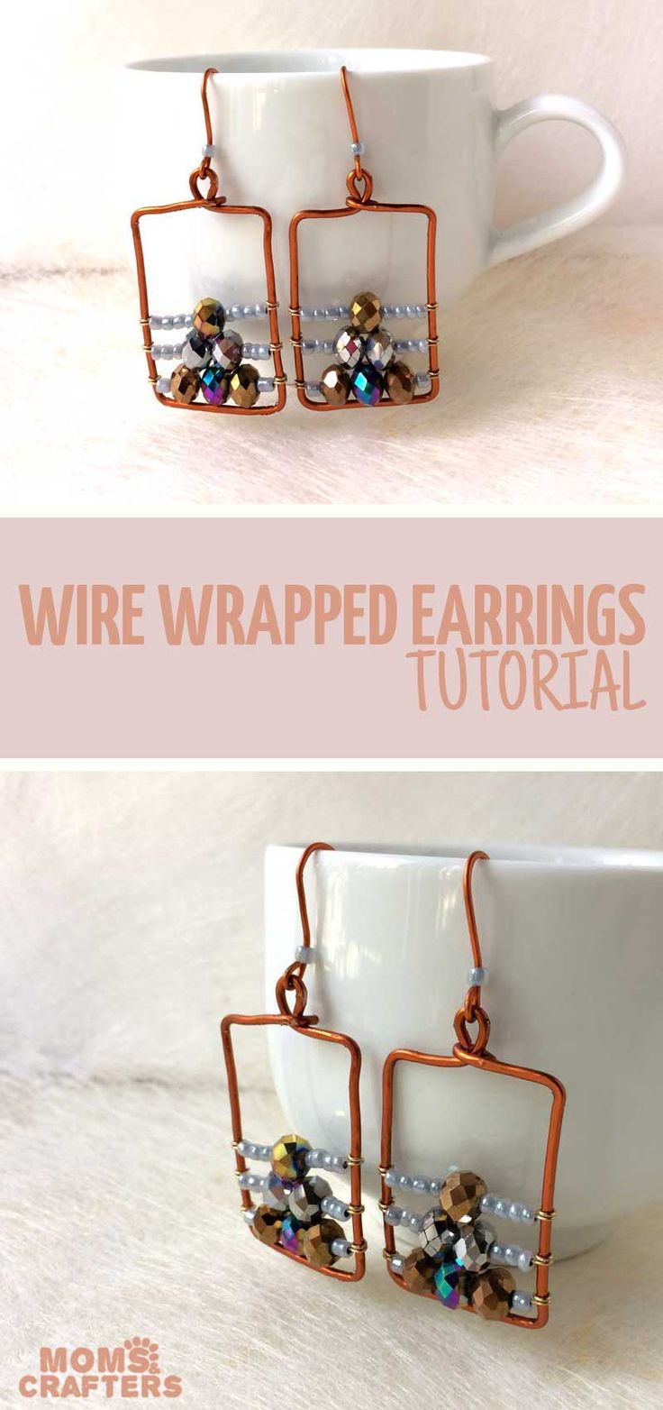 Make these beautiful wire wrapped earrings 540 best