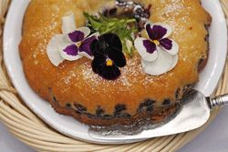 BLUEBERRY ORANGE COFFEE CAKE: A moist cake with a sour cream enriched batter and orange flavor from grated orange zest  #orange #blueberry #CoffeeCake