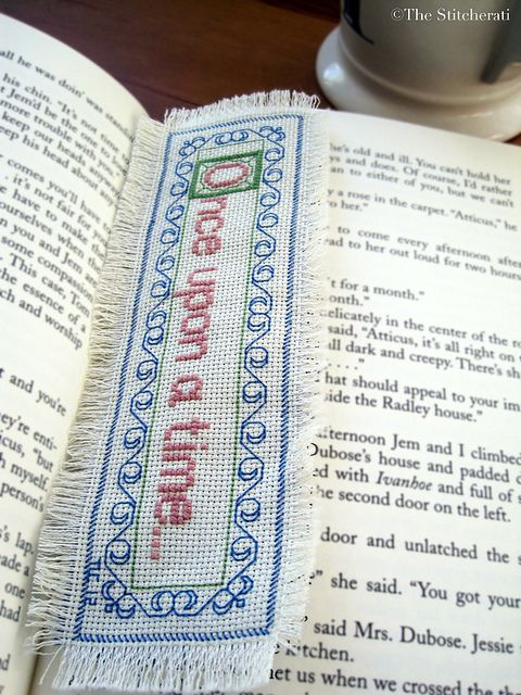 Once Upon a Time cross-stitch bookmark by thestitcherati ~ Absolutely love this!!