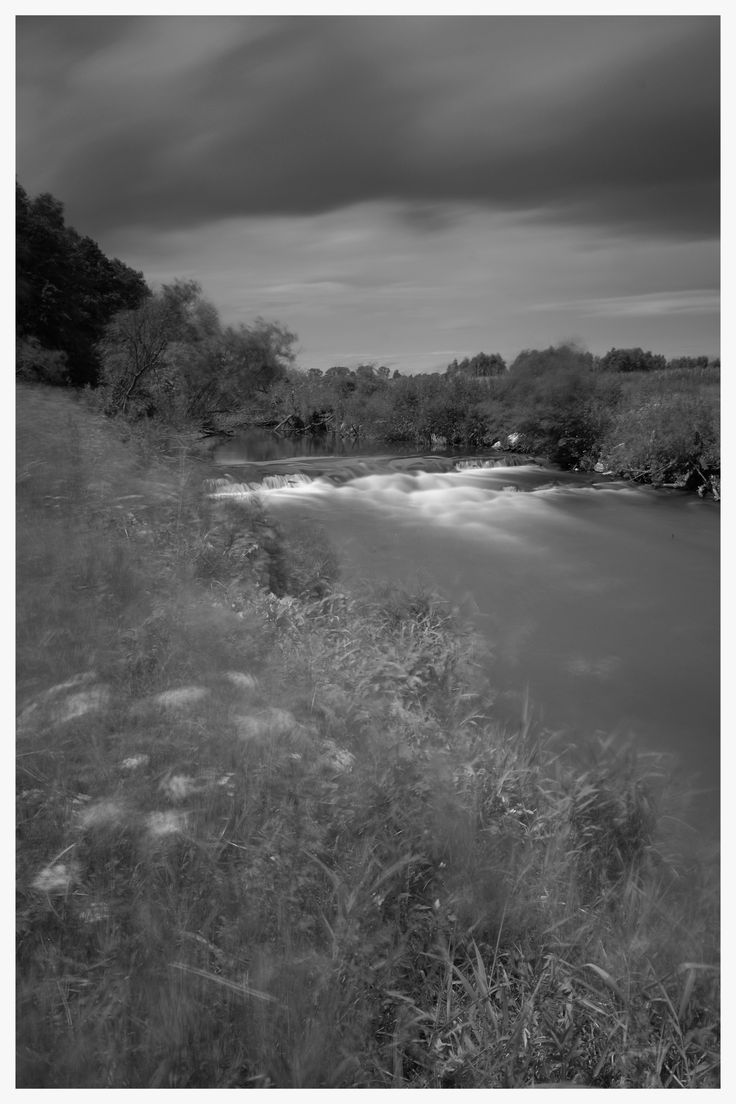 Long Exposure Photography. Liswarta river Poland.