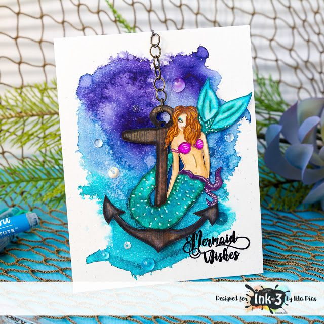 I Love Doing All Things Crafty: Mariner Mermaid Card - Ink On 3