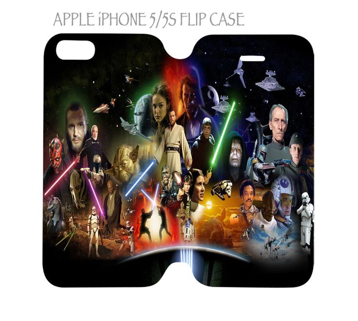 iPhone 5 / 5s Flip Case Folio Cover Star Wars #QuinnCafe