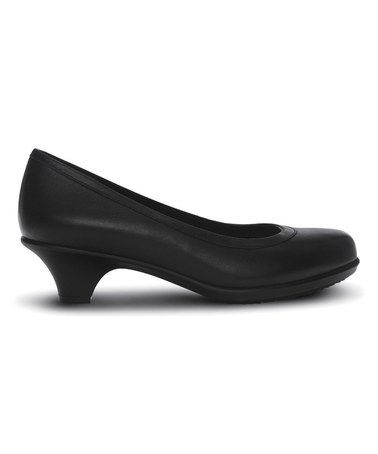 Another great find on #zulily! Black Grace Pump - Women by Crocs #zulilyfinds