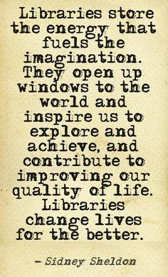 Libraries are going to maybe a thing of history someday...I know I want to take advantage!