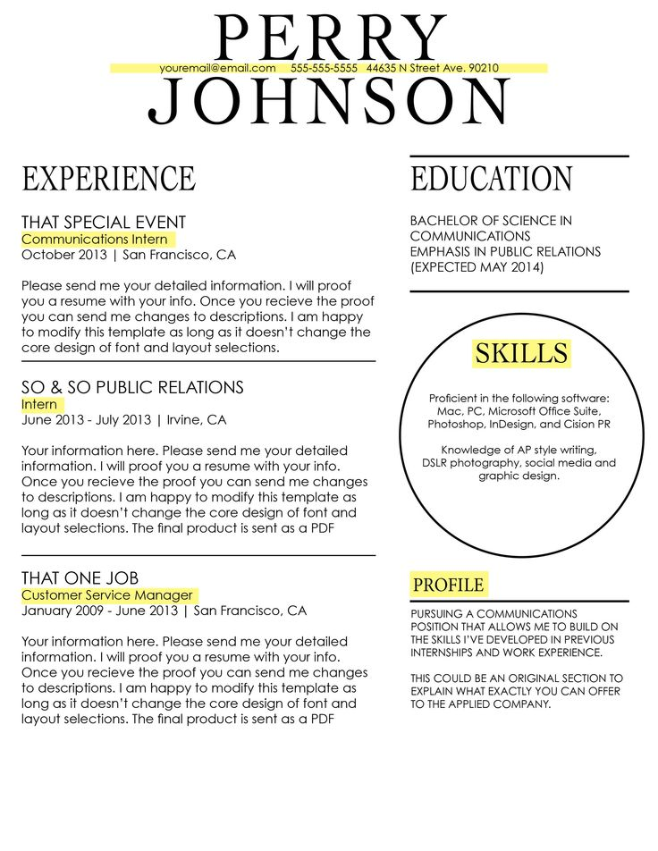 207 best CV Templates images on Pinterest DIY, Architecture and - ap style resume