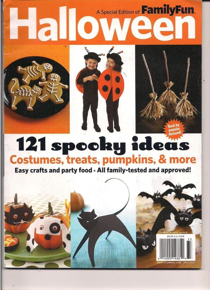 family fun magazine october 2013 special halloween edition - Family Fun Magazine Halloween Crafts