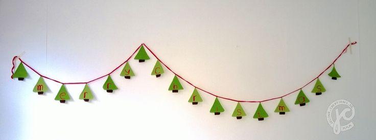 #haken, gratis patroon, Nederlands, Kerstmis, kerstboom slinger, haakpatroon, #crochet, free pattern, X-mas, Christmas tree garland