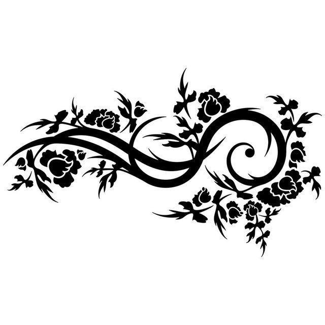 Wandtattoo »Blütenwelle«
