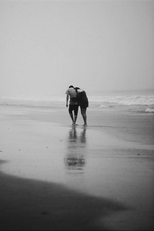When Luna cuts her toe on sea glass, Nico instructs her to walk in the salt water back to the house where he cleans and bandages her...in the perfect act of love.