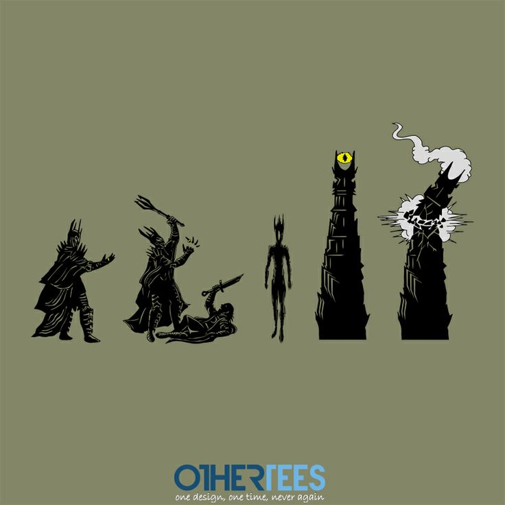 Dark Lord Evolution by ddjvigo Shirt on sale until 23 March on http://othertees.com #lordoftherings #hobbit
