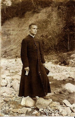 The cassock, an item of clerical clothing, is an ankle-length robe worn by clerics of the Roman Catholic Church. It was the common daily wear around the 1900s